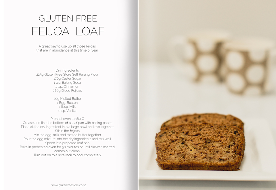 Feijoa loaf recipe magazine style copy
